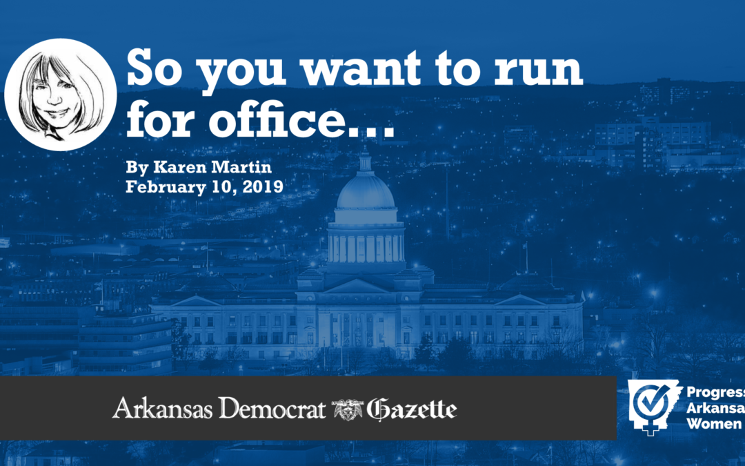 So you want to run for office…