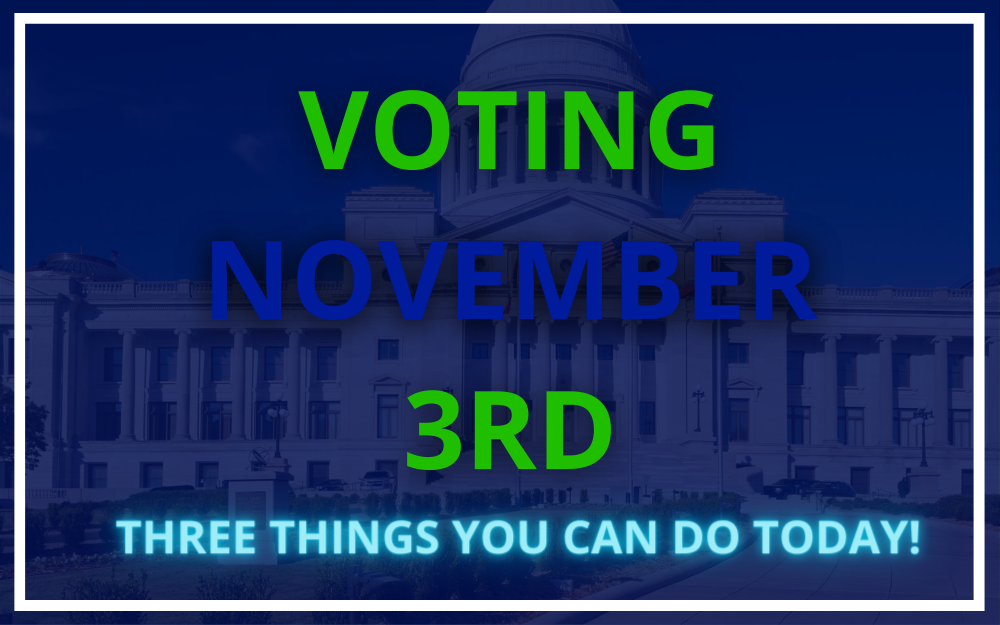 Voting on Nov. 3: Three Things You Can Do TODAY!